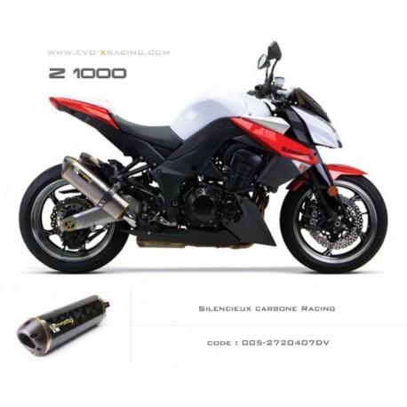 Echappement M2 en carbone Kawasaki Z1000