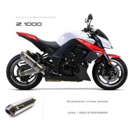 Double échappement M2 en titane Kawasaki Z1000