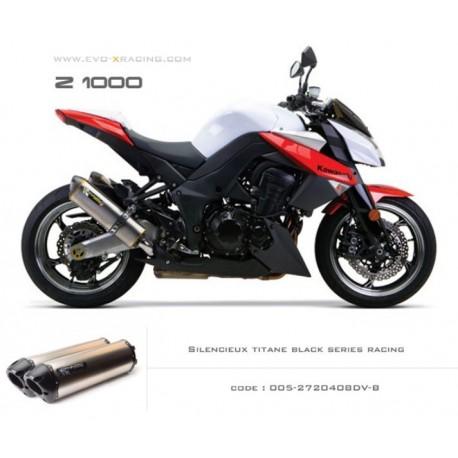 Double échappement M2 en titane option black séries Kawasaki Z1000